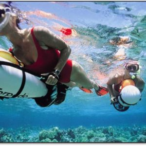 Woman Snorkeling with a Sea Scooter
